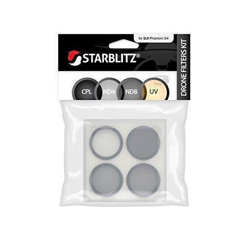 Starblitz sfidroneph34Pack de 4filtros para dji Phantom 3o 4Negro