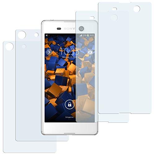 mumbi Schutzfolie kompatibel mit Sony Xperia M5 Folie klar, Bildschirmschutzfolie (4X)