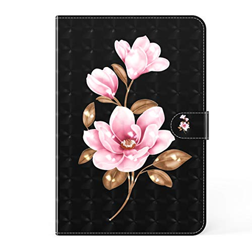 KM-WEN Tablet Case for Amazon Fire HD 8 / HD 8 Plus (10th Gen 2020) 3D Bookstyle Color Painting Serie Orchid Pattern PU Leather Flip Cover Case Bag with Stand Protective Cover Color-10