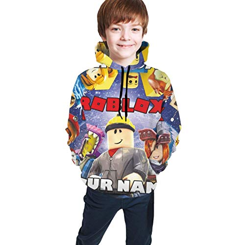 Maichengxuan Sudaderas con capucha para niños Roblox 3D Print Unisex Pullover sudadera con capucha para niños/jóvenes/niños/niñas