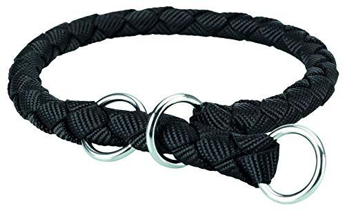 Trixie 143701 Cavo Zug-Stopp-Halsband, S–M: 35–41 cm/ø 12 mm, schwarz