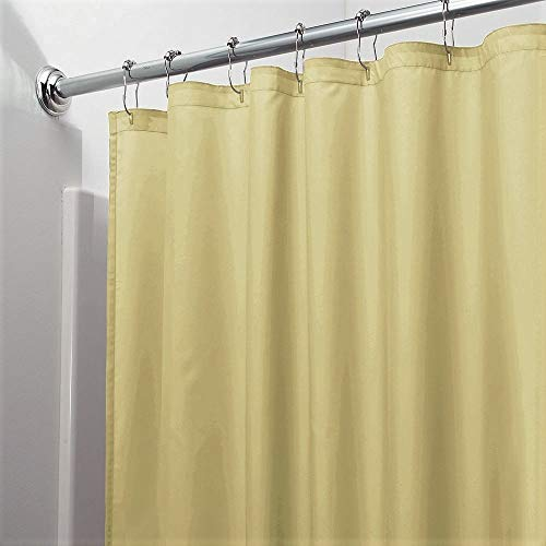 Vinyl Shower Curtain Liner with Rustproof Metal Grommets for Bathroom Showers and Bathtubs – Waterproof Shower Liner – Sand, 70 x 72