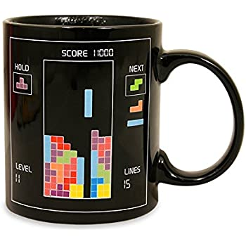 Paladone Tetris Heat Changing Ceramic Coffee Mug Classic Video Game Themed