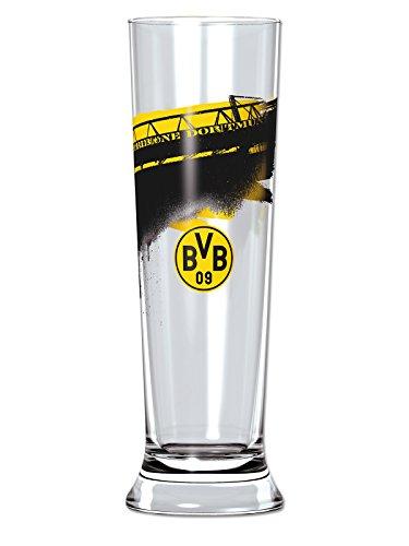 Borussia Dortmund Glas/bierglas/pilsglas - pilsglas Zuid-Tribüne BVB 09 - plus gratis sticker forever Dortmund