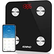 Smart Body Fat Scales, RENPHO Digital Bathroom Weight Scales Bluetooth Weighing Scale for Body Composition Analyzer with Smart App for Fitness