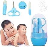 Kit de aseo portátil para bebés de 4 piezas, juego de cortaúñas para el cuidado de las uñas con para recién nacidos, bebés y niños pequeños. Incluye cortaúñas para bebés, tijeras, pinzas y lima para u