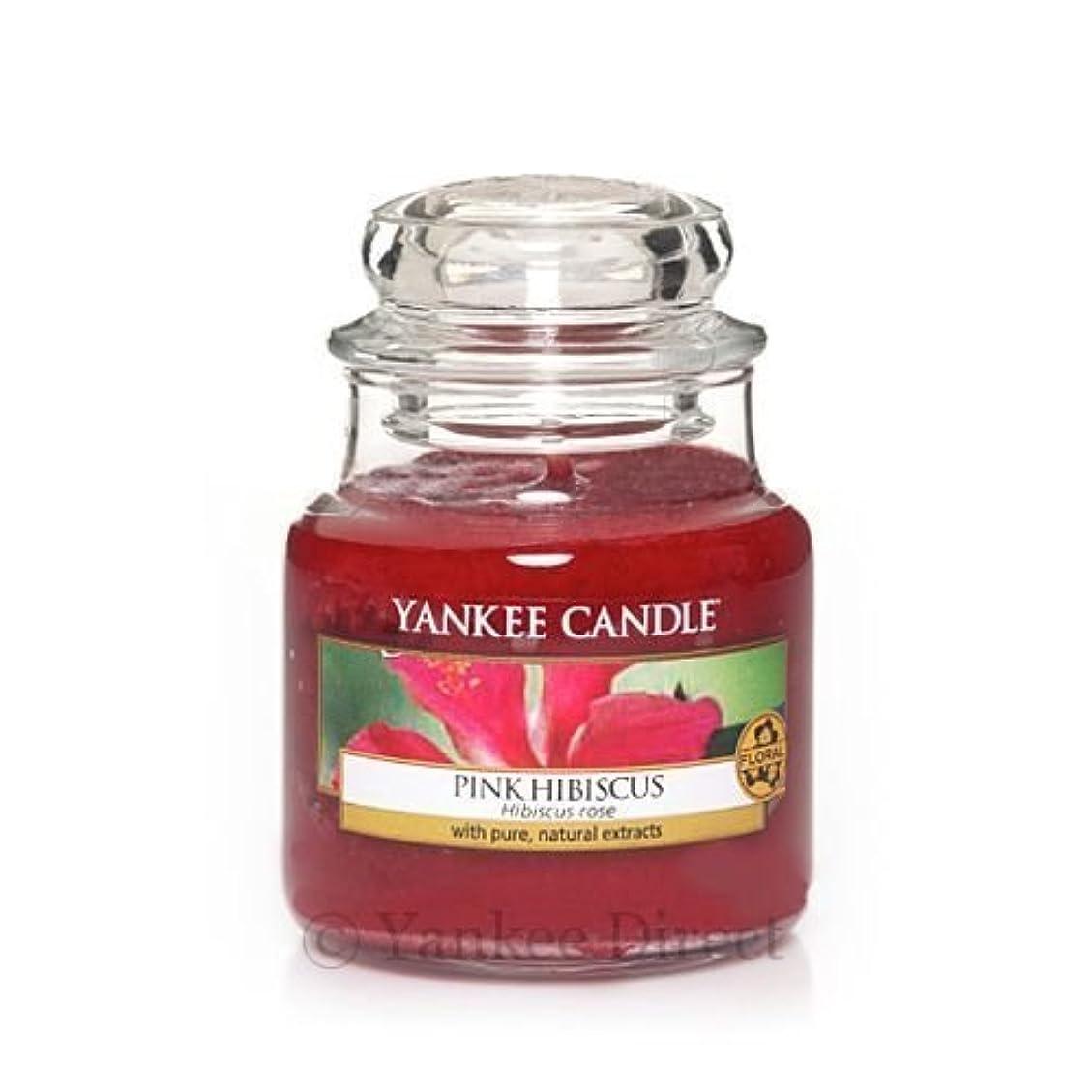 芽潜むボタンYankee Candle - Pink Hibiscus Small 3.7oz Jar (NEW Scent for 2014!) by Yankee Candle [並行輸入品]
