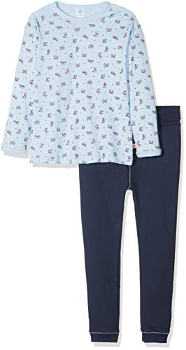 Sanetta Sanetta Baby-Jungen Pyjama Long Zweiteiliger Schlafanzug, Blau (Light Blue 50137.0), 74