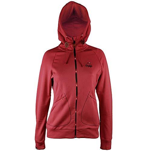 Maloja Nuevo SchinnasM Chaqueta de Forro Polar para Mujer (Talla XS), Color Rojo