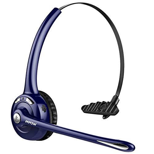 Mpow Bluetooth Headset, Drahtloses Leicht-Headset mit Mikrofon, Wireless PC Headset, Freisprechen Bluetooth Chat Headset, Funk-Headset für Computer,Skype,VoIP,Call Center,Smartphone(Nur Chat-Lilia)