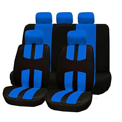 LINGJIE Atmungsaktive Universelle Autositzabdeckung, 8 Hochwertige Und Komfortable Autositzbezüge, Schmutzbeständig, Verschleißfest Und Leicht Zu Reinigen,Blau