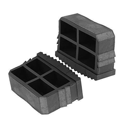 TOPINCN - Alfombrilla Antideslizante para pies de Escalera de Goma de Repuesto para Escalera de pies (2 Unidades), Color Negro