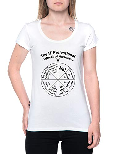 The It Professional Wheel of Answers Camiseta Mujer Blanco T-Shirt Women's White