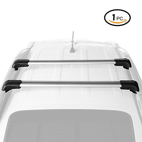 AUXMART 1Pc 39' Roof Rack Cross Bar Universal fit for car with Raised Side Rails - Aero Dynamic Design