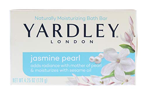 Yardley Bar Soap, Botanical Jasmine Pearl, 4.25 Ounce by Yardley