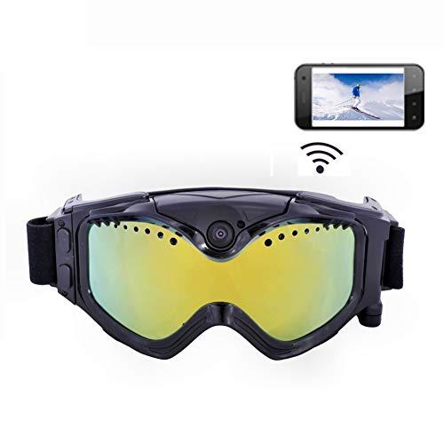 DZSF 720P HD Ski-Google camera, kleurrijk, dubbele WiFi-sportcamera, anti-fog objectief, voor ski's, met app, live-afbeelding, videobewaking