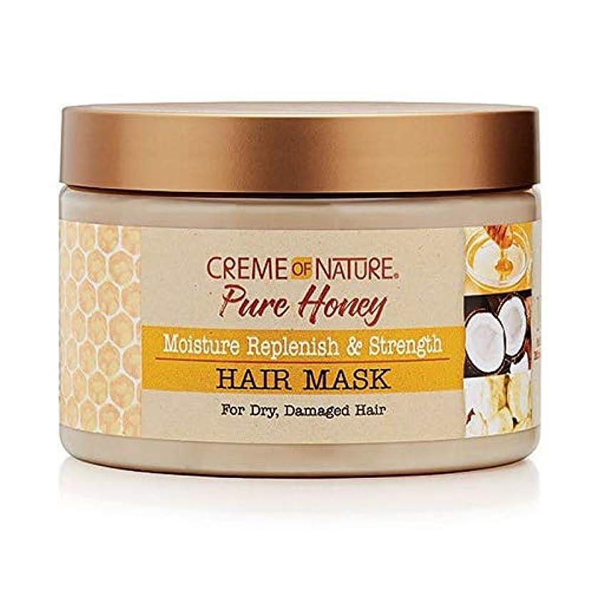 敵対的ラダねばねば[Creme of Nature ] 自然の純粋な蜂蜜のクリーム補充&ヘアマスクを強化 - Creme of Nature Pure Honey Replenish & Strengthen Hair Mask [並行輸入品]