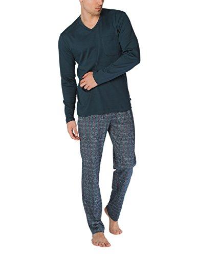 Calida David Herren Pyjama Zweiteiliger Schlafanzug, Mehrfarbig (Onyx 808), Large