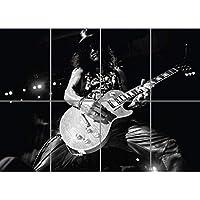 【音楽】スラッシュ ガンズ・アンド・ローゼズ アートプリントポスター SLASH GUNS AND ROSES ROCK MUSIC