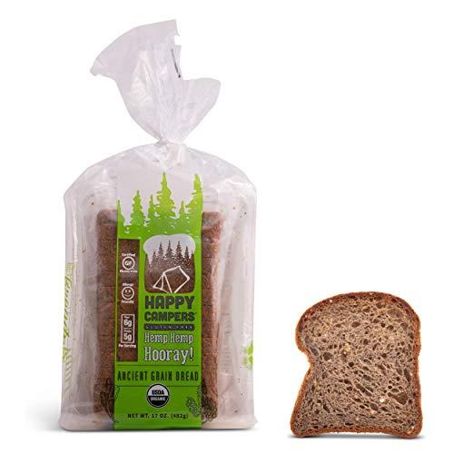 Happy Campers Hemp Hemp Hooray Gluten Free Bread, Multi-Grain, Non-GMO, Vegan, Organic, 17.4 oz Loaf (Pack of 4)