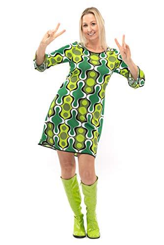 Original Replicas Greeting Green Sechziger Siebziger Hippie Disco Soul Dance Kleid für die Frau XL - XS bis 3XL