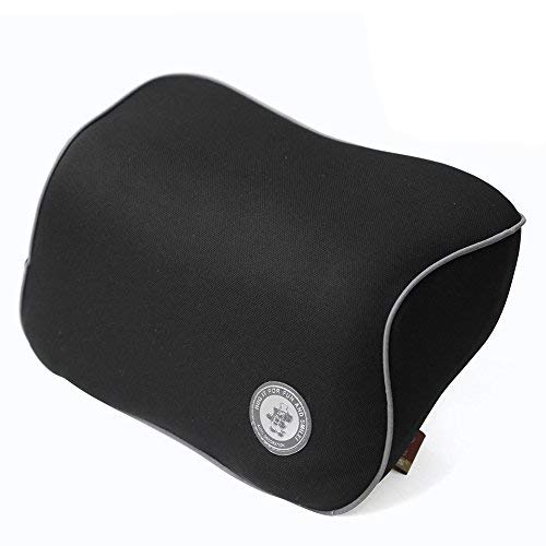 FMS Reposacabezas Tela de la Memoria Asiento de Coche Cuello almohada, con cubierta extraíble para el asiento de coche, Almohada de viaje Se adapta a Car Home Silla de oficina (Negro)