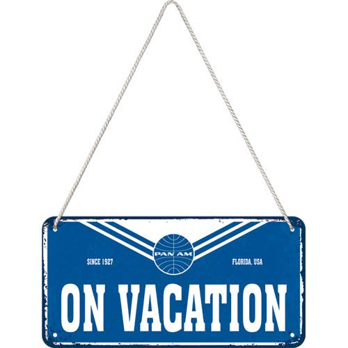 Nostalgic-Art 28037 - hangbord 10x20 cm - Pan Am - On Vacation