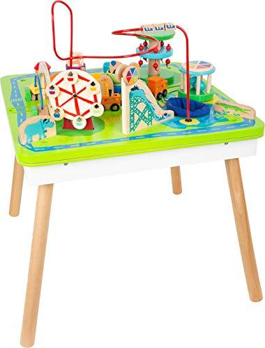 Small Foot 11434 Spieltisch Freizeitpark 3 in 1, Spiel-und Motorikspaß aus Holz, multifunktional, ab 1 Jahr Toys