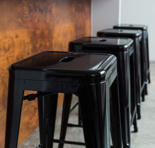 UrbanMod 24 Inch Bar Stools for Kitchen Counter Height, Indoor Outdoor Metal,Rustic Gunmetal. 5 ✅PERFECT FOR KITCHEN OR OUTDOOR, HOME OR BUSINESS! LOVE THEM OR WE'LL SEND YOUR MONEY BACK! -Tired of wobbly stools that just look cheap? Ready for some modern, stable, sleek counter stools for your home or business? No more cheap, wobbly barstools! ✅THE ONLY SUPER DURABLE, MODERN, PERFECT-HEIGHT COUNTER STOOLS WITH A LIFETIME WARRANTY! -Most imitators are too short or don't quite fit right! Those hold only 200 lbs, our holds up to 330 lbs…and safe for both inside and outside! These are perfect. ✅ PERFECT FOR YOUR BAR/RESTAURANT (STACKABLE), AT HOME, OR YOUR GARAGE! NOTHING ELSE COMPARES -Don't price shop; imitators are cheap & uncomfortable. You're ready for your breakfast bar, kitchen, or shop to have sleek, strong stools, right?