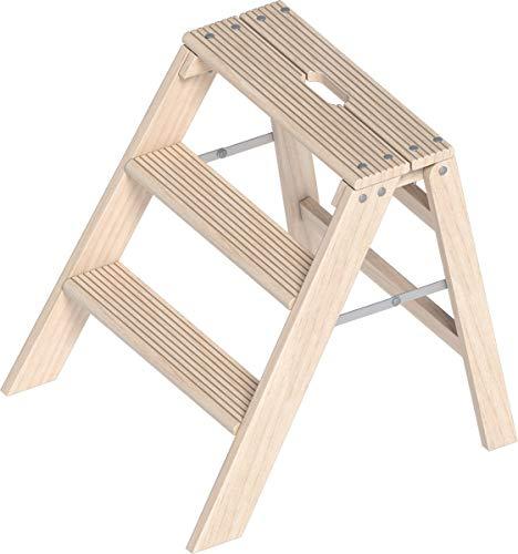 Layher Klappbarer Holzstufentritt TOPIC 1055 3 Stufen Arbeitshöhe 2,65 m