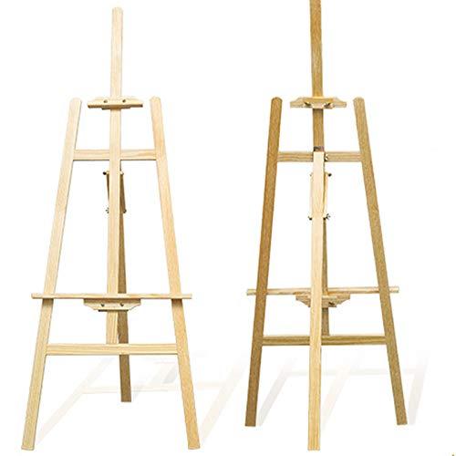 JUEYAN 2 Stücke Staffelei Holz Atelierstaffelei Buchholz Standstaffelei Feldstaffelei Staffelei Verstellbar Holzstaffelei Stand 150 cm