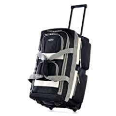 "Constructed Of Supreme ""Protecflon"" Polyester With 1200 D. Polyester Recessed in-line skate metal ball bearing wheel system and hideaway pull handle U-shape top opening system for easy access to spacious main compartment Self-repairing excel zippers ..."