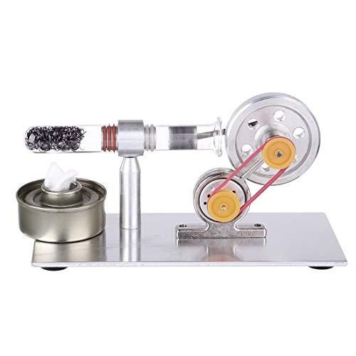 CT-Tribe Motor Stirling, Modelo de Generador de Motor Stirling Monocilíndrico, Kit de Ciencia y Juguetes Educativos