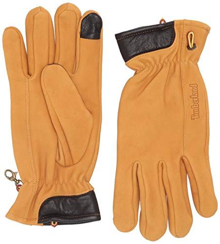 Timberland Herren Nubuck Leather Glove with Touch Tips Handschuhe für kaltes Wetter, weizenfarben, Groß
