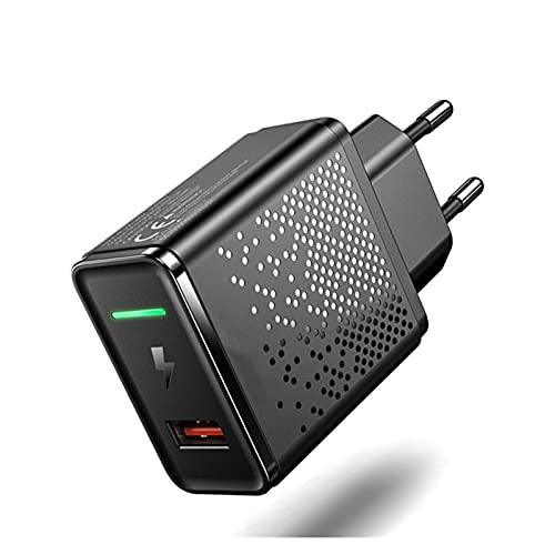 Pxbhd CARGER DE 18W CARGER UE Tapón QC 3.0 Carga rápida Teléfono móvil Adaptador de Pared Universal Carga rápida para i-Phone 12 para S-Amsung para X-IAOMI FOR R-EDMI Carga RÁPIDA