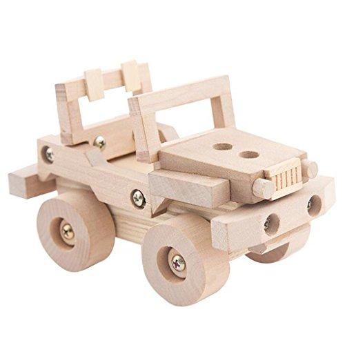 SM SunniMix Hölzerne Manuelle Montage Auto LKW Fahrzeugmodell DIY 3D Puzzles Kits Kinder Geschenke - Düne Buggy