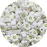 HJKND 30 unids/Lote de Cuentas sonrientes de 10mm, Cuentas espaciadoras de Arcilla con Forma de Girasol, Cuentas de Arcilla polimérica para Hacer Joyas, Accesorios Hechos a Mano