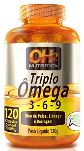 Triplo Ômega 3-6-9-120 cápsulas softgel de 1000mg