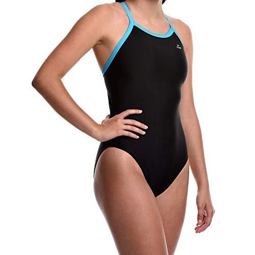 Flow Ignite Badeanzug für Mädchen – Größe 25 bis 30 Einteiler Wettkampf-Badeanzug in Schwarz, Blau und Rot - mehrfarbig - 24/25W