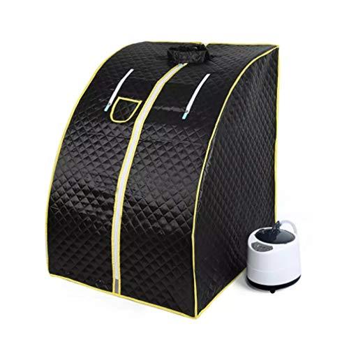 Upupto Portable Sauna Home Sauna Bath 1000 Watt 2L Fold Stuhl Dampfbad Sauna Box Leichtigkeit Schlaflosigkeit Edelstahl Rohrstütze