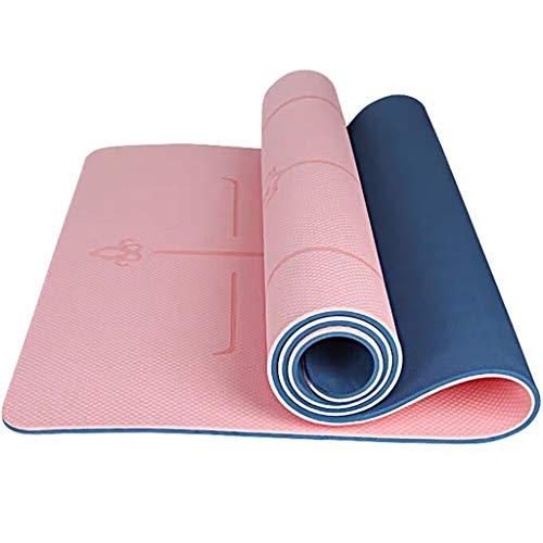 YXJBD Matte für Yoga Anti-Rutsch-Yoga-Matte Eco Friendly TPE Gymnastikmatte zu vermeiden Sore Knees yogamatte naturkautschuk (Color : Rubber Powder, Size : 185x80x1cm)