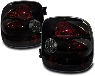 ZMAUTOPARTS Chevy Silverado/GMC Sierra Stepside Altezza Tail Light Black/Smoke Set New