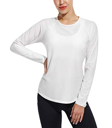 G4Free Maglie a Manica Lunga da Donna Allenamento Sport Top Camicia Leggera Yoga Atletico Gym Clothes Outdoor Escursionismo T-Shirt Asciugatura Veloce