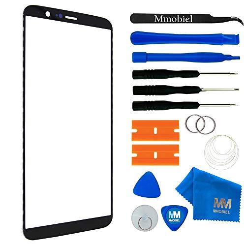 MMOBIEL Front Glas Reparatur Set kompatibel mit OnePlus 5T - 6.01 Inch(Schwarz) Display Touchscreen mit Werkzeug-Set