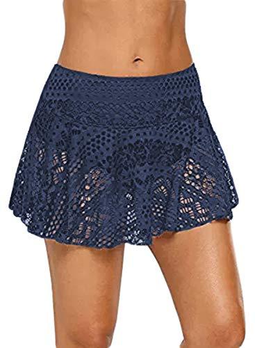 Sideffel – Pantalones cortos de bañador o bikini para mujer, para proteger de los rayos ultravioleta, para practicar deportes acuáticos, para ir a la playa, se secan con rapidez 2 azul. M