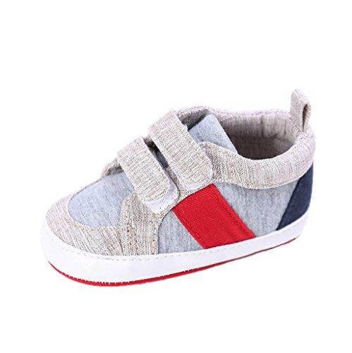 Baby Leinwand Schuhe, Auxma Baby Jungen Mädchen Neugeborenen Krippe Weiche Sohle Beiläufige Baumwollgewebe Schuhe Turnschuhe Erste Wanderer Sneakers Lauflernschuhe für 0-18 Monate (13cm/12-18 M, C)