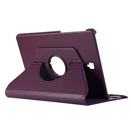 GHC PAD Cases & Covers For Samsung Galaxy Tab S4 2018 10.5'' SM-T830 T835, 360 Rotation Smart Stand PU Cover for Samsung T830 10.5'' (Color : Purple)