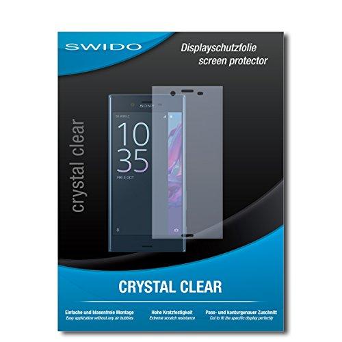 SWIDO Schutzfolie für Sony Xperia XZ [2 Stück] Kristall-Klar, Hoher Festigkeitgrad, Schutz vor Öl, Staub & Kratzer/Glasfolie, Bildschirmschutz, Bildschirmschutzfolie, Panzerglas-Folie