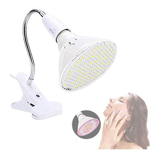 Huidvriendelijkheids-warmmelamp, led-huidverjonging licht, acne rimpelbehandeling gezicht lichaamsverzorging, schoonheidssalon en huishoud-huidverzorging. Beauty lamphouder + houderset.