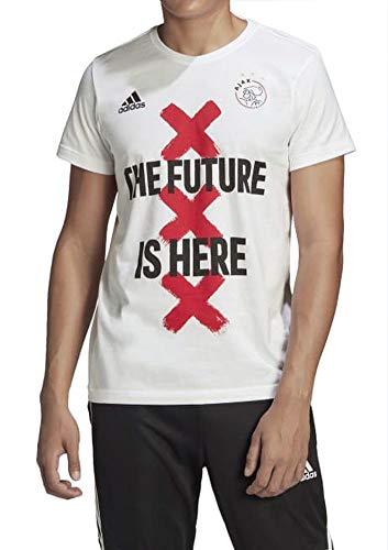 adidas Ajax Amsterdam - Camiseta para hombre, color blanco, talla S